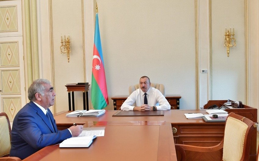 President Ilham Aliyev received chairman of Board of Directors of Azerbaijan Highway State Agency