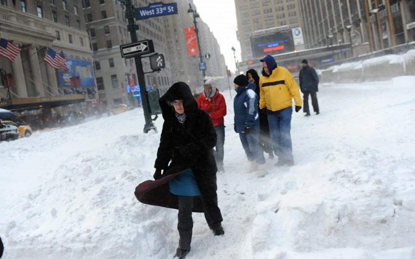 Nyu-Yorkda bütün məktəblər qar fırtınası səbəbindən bağlanıb