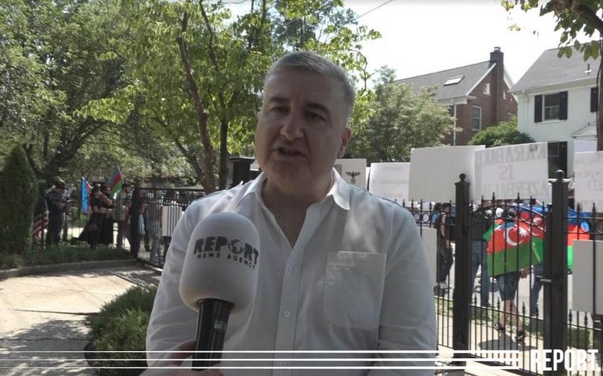 """Elin Süleymanov: """"Soydaşlarımız ABŞ-da ermənilərə yaxşı cavab verdilər"""""""