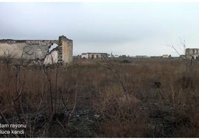 Видеокадры из села Гюллюджа Агдамского района