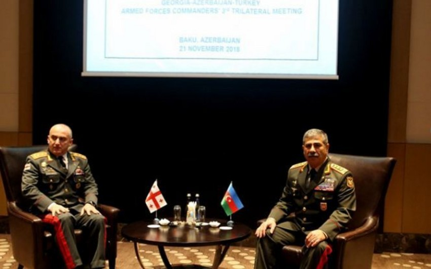 Zakir Hasanov  and Chief of General Staff of the Georgian Armed Forces discuss cooperation issues