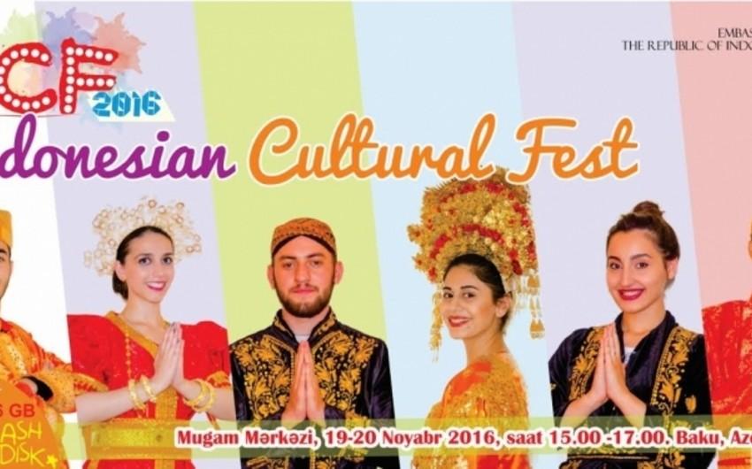 Bakıda ikinci İndoneziya Mədəniyyət Festivalının açılışı olub