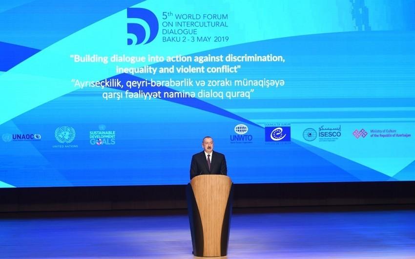 Azərbaycan Prezidenti: Qarabağ münaqişəsi beynəlxalq hüququn normalarına əsasən həll edilməlidir