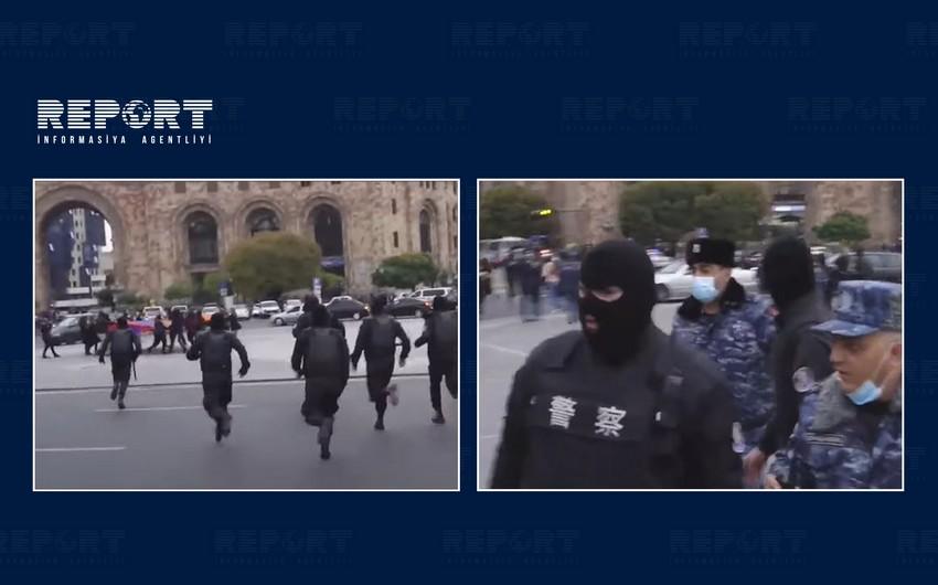 Yerevanda aksiyanı oliqarxların maskalı cangüdənləri dağıdıb
