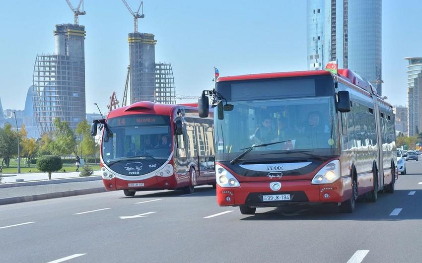 Bakıda avtobusların hərəkət intervalı azaldılacaq