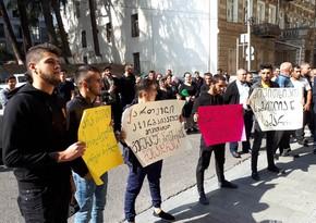Georgian Azerbaijanis stage protest in Tbilisi - PHOTO