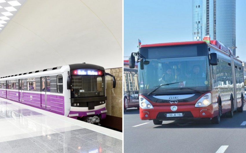 Gələn ay metro və avtobuslar həftəsonları işləməyəcək - QƏRAR