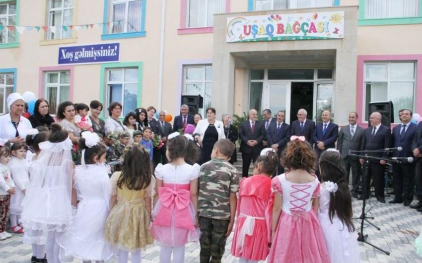 Ağdamda Heydər Əliyev Fondunun təşəbbüsü ilə inşa edilən körpələr evi istifadəyə verilib
