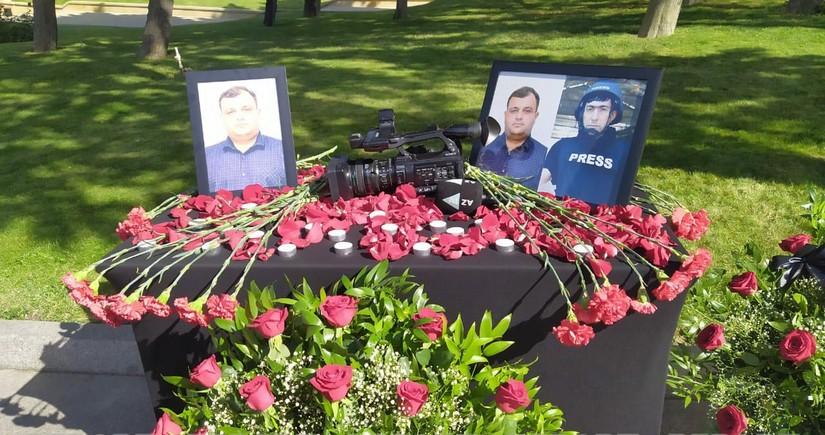 President Ilham Aliyev awards journalists killed in landmine explosion in Kalbajar
