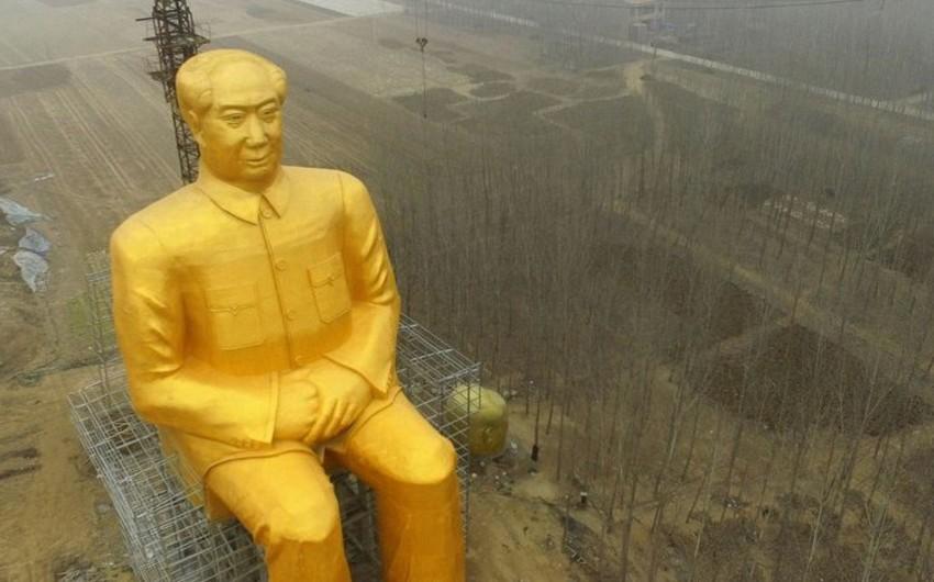 Çində Mao Tszedunun 36 metrlik abidəsinin tikintisi başa çatmaq üzrədir - FOTO