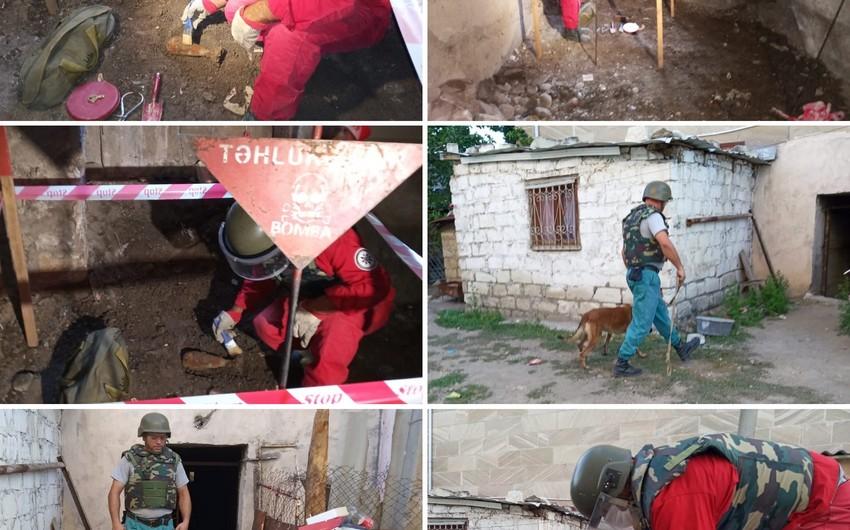 В Товузе обнаружили минометный снаряд