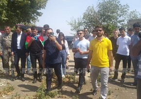 Представители молодежных организаций и волонтеры совершили визит в Агдам