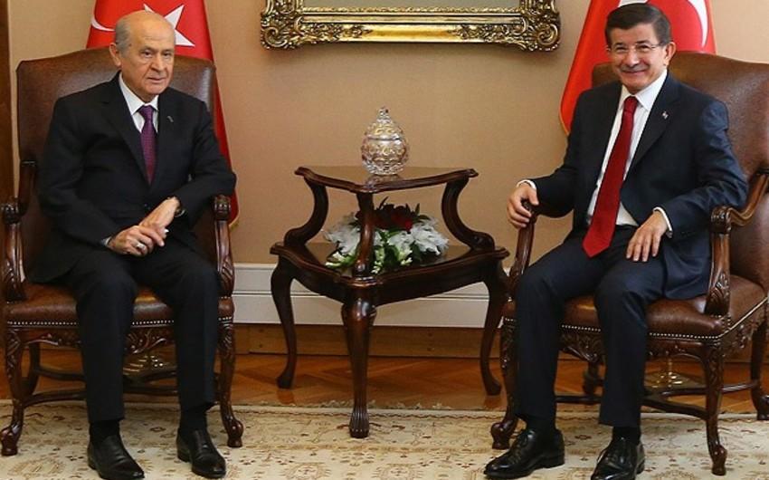 AKP və MHP liderləri arasında görüşün tarixi açıqlanıb