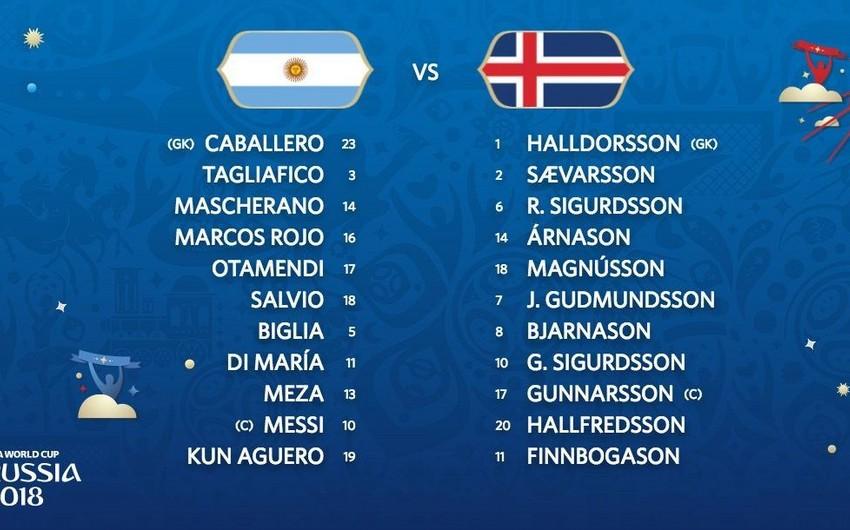 DÇ-2018: Argentina və İslandiyanın start heyətləri məlum olub