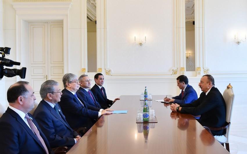 Prezident İlham Əliyev Qazaxıstan parlamenti Senatının sədrinin başçılıq etdiyi nümayəndə heyətini qəbul edib