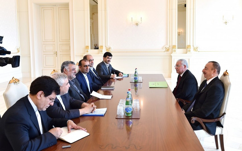 President Ilham Aliyev received delegation led by Iranian Minister of Agriculture