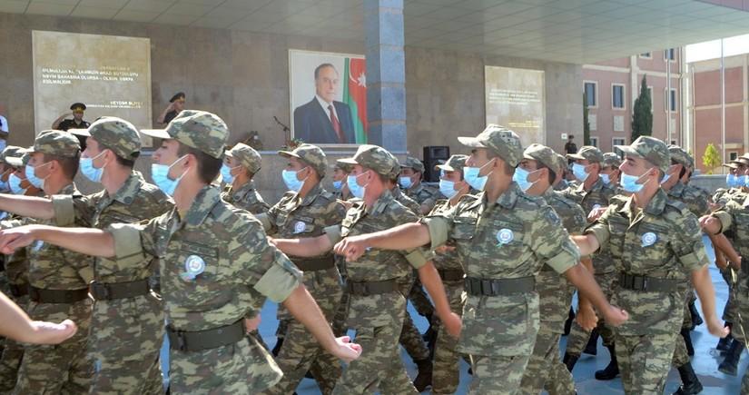 Azərbaycan Ordusunda andiçmə mərasimi keçirilib