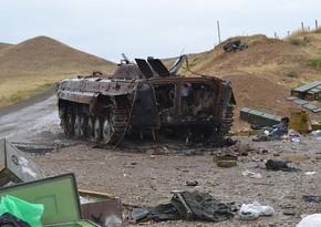 Армянские танки попали под собственный артиллерийский огонь