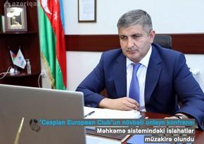 """""""Azəriqaz"""" rəsmiləri Caspian European Clubun onlayn tədbirində iştirak ediblər"""