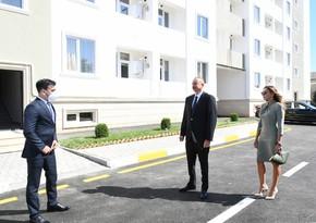 İlham Əliyev və Mehriban Əliyeva yataqxana binasının açılışında iştirak etdilər
