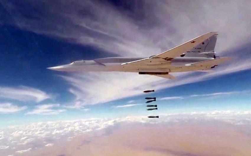 Rusiyanın altı bombardımançı təyyarəsi Suriyada İŞİD-in mövqelərinə zərbə endirib