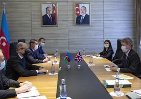 Britaniyanın Azərbaycanla energetika sahəsində əməkdaşlığı müzakirə edilib