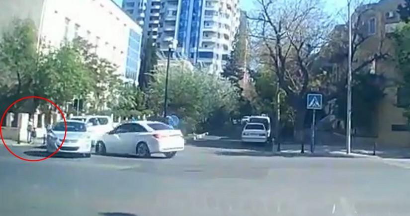 Bakıda ana və övladları ölümdən son anda qurtuldu - VİDEO