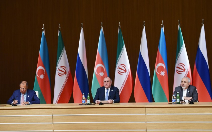 Azərbaycan, Rusiya və İran xarici işlər nazirlərinin birgə mətbuat konfransı keçirilib