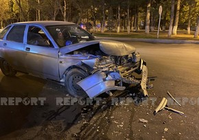 В Сумгайыте водитель совершил ДТП, не справившись с управлением