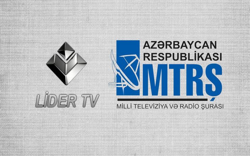 Gələn aydan Lider TVnin yayımı dayandırılır - RƏSMİ