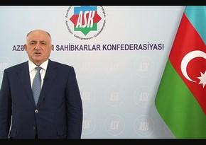 Azərbaycan Sahibkarlar Konfederasiyası iş adamlarına müraciət edib