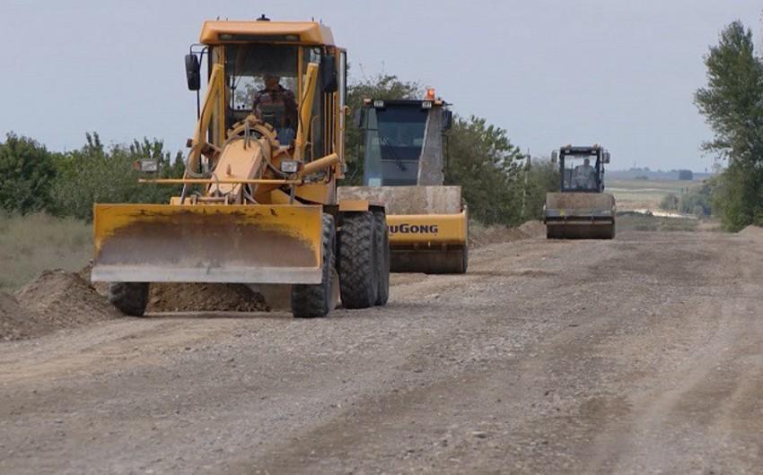 Füzulidə avtomobil yolu inşa edilir