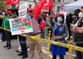 Vaşinqtonda azərbaycanlılar və türklər Baydenə etiraz aksiyası keçiriblər - YENİLƏNİB