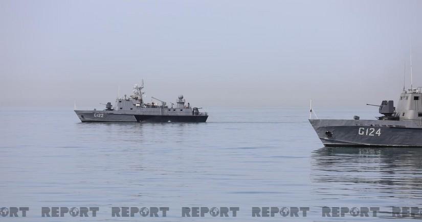 Начались тактические учения ВМС Азербайджана
