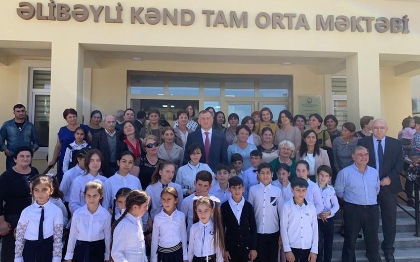 В Азербайджане состоялось открытие нового здания грузиноязычной школы