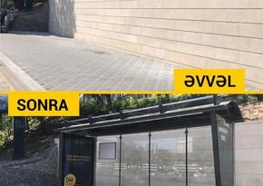 В Баку устанавливаются новые автобусные павильоны