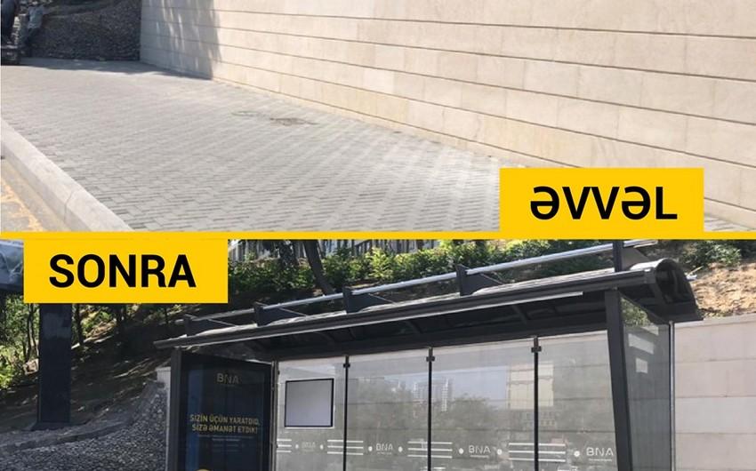 Bakıda yeni avtobus dayanacağı pavilyonları quraşdırılır