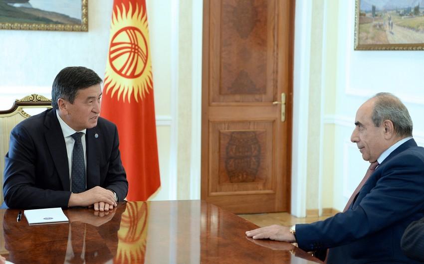 Жээнбеков встретился с первым заместителем премьер-министра Азербайджана Ягубом Эюбовым