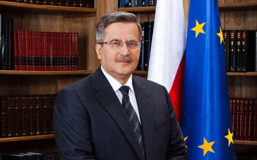 Polşa prezidenti Moskvaya getməyəcək