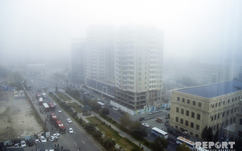 Bakıda güclü duman müşahidə olunur