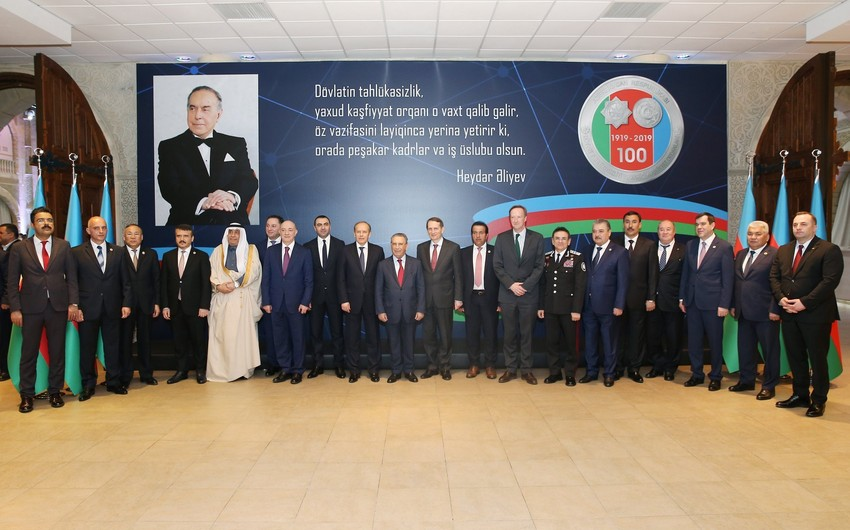 Состоялось торжественное мероприятие по случаю 100-летия создания органов безопасности Азербайджана