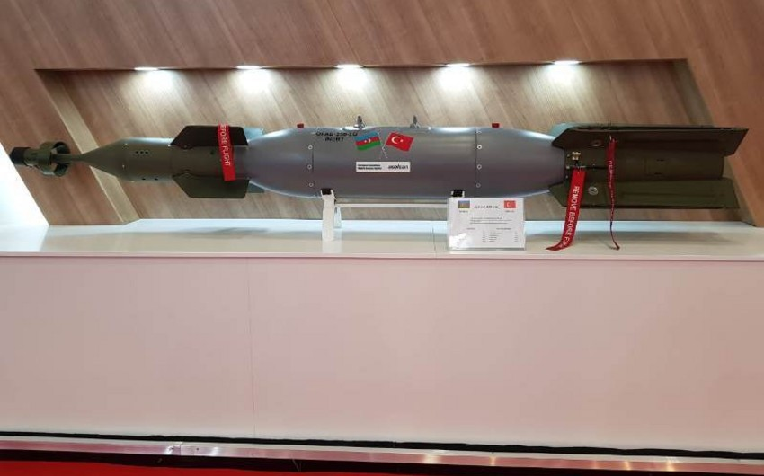 Aviation bomb manufactured in Azerbaijan demonstrated at IDEF-2019 for the first time