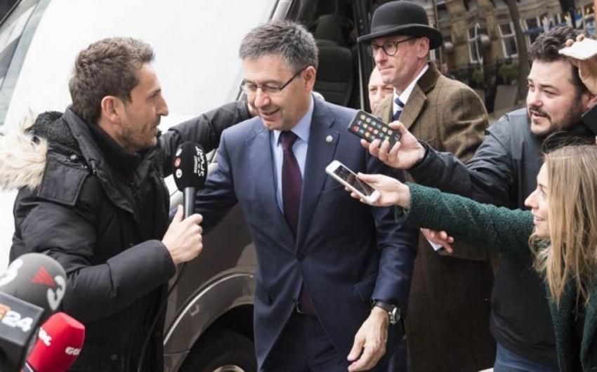 Barselonanın prezidenti klubun baş məşqçi ilə bağlı qərarını açıqlayıb