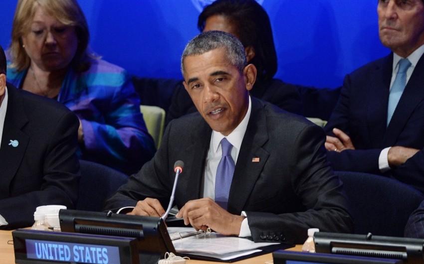 Obama: Suriya böhranını güc yolu ilə həll etmək mümkün deyil