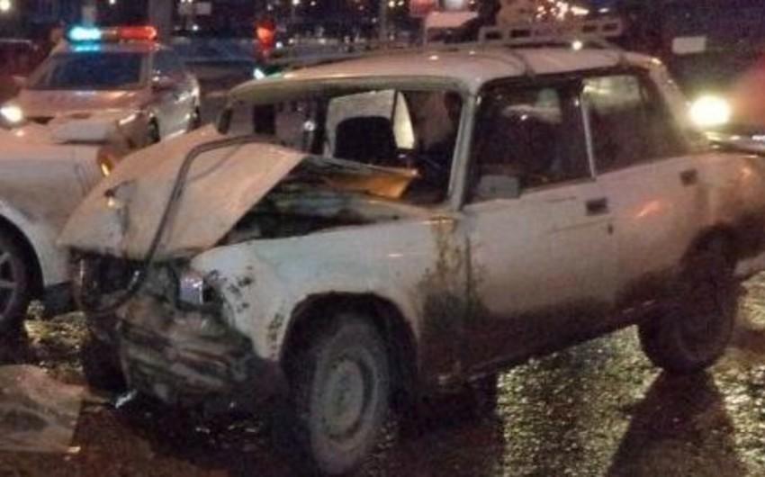 Sumqayıtda yol qəzası nəticəsində bir nəfər xəsarət alıb