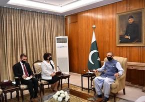 Sahibə Qafarova Pakistan prezidentiilə görüşüb