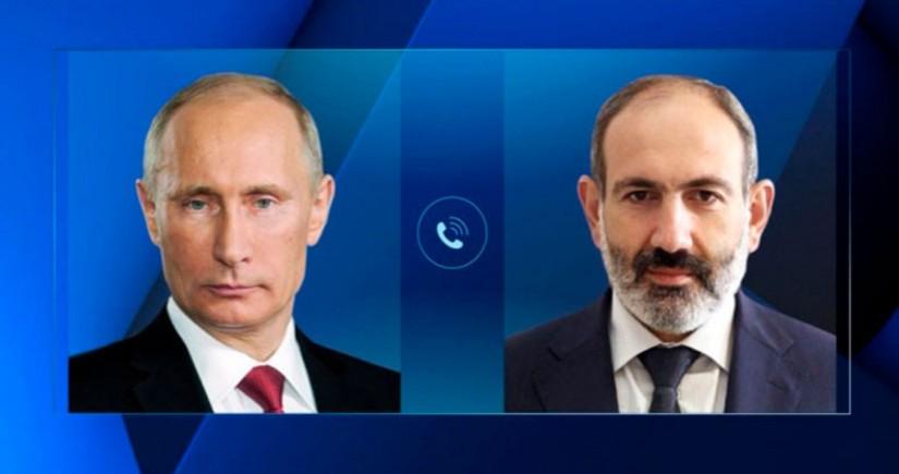 Putinlə Paşinyan arasında telefon danışığı olub