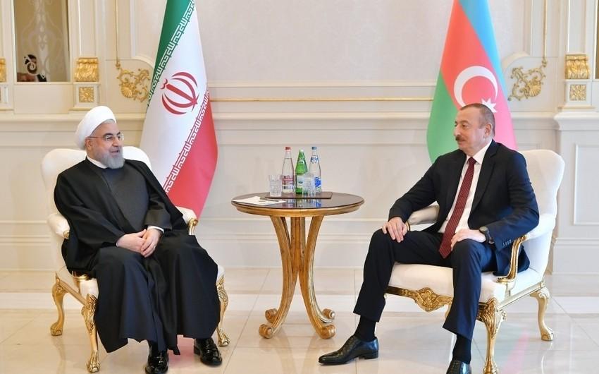 Azərbaycan Prezidenti iranlı həmkarını təbrik etdi