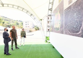 Президенту Ильхаму Алиеву представлен генеральный план города Шуша