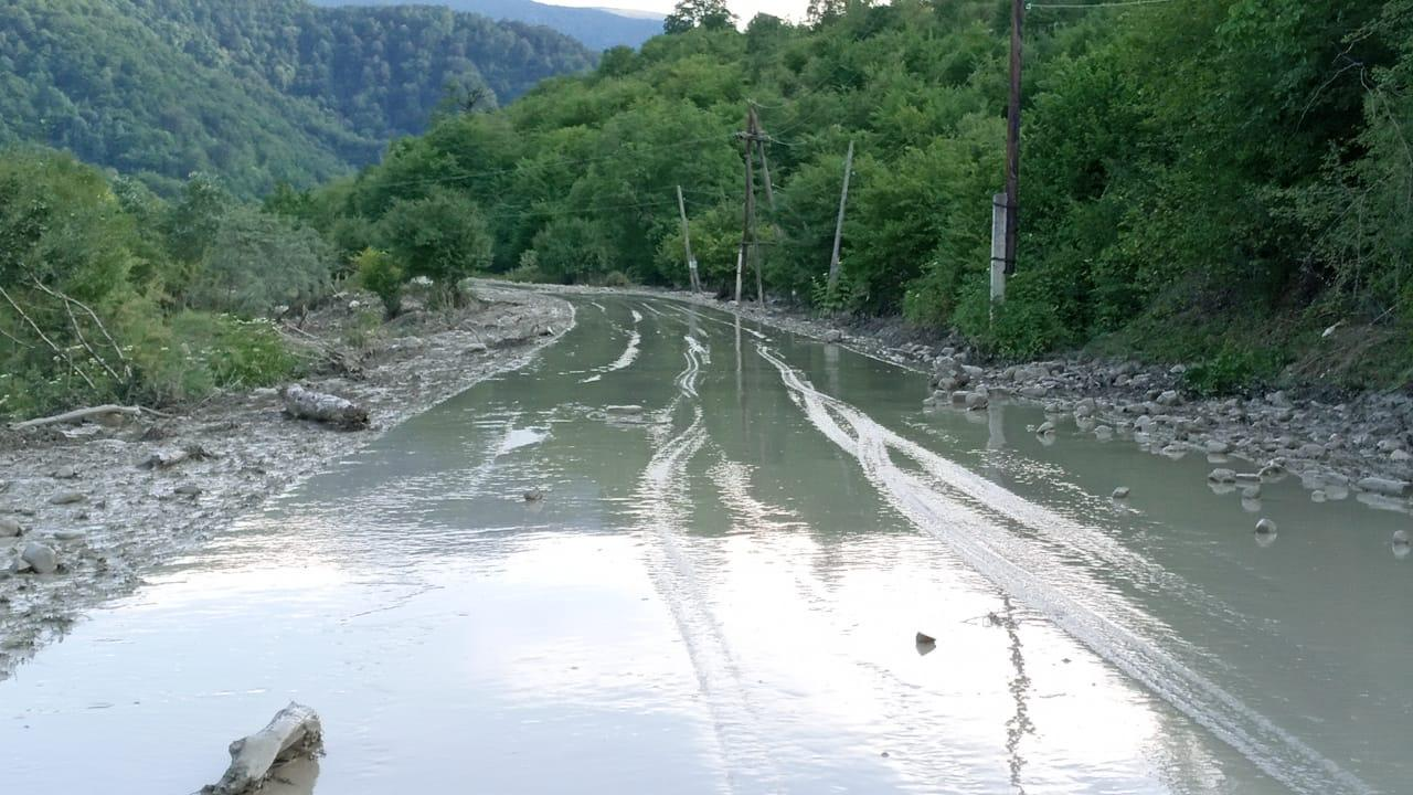 Qubada iribuynuzlu heyvanları sel aparıb - YENİLƏNİB